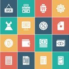 E-Commerce White Silhouette Vector Icons