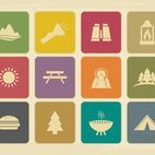 Small 1x dd vintage camping icon collection 34091 preview