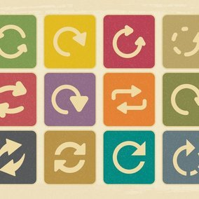 Vintage Style Update Icon Collection