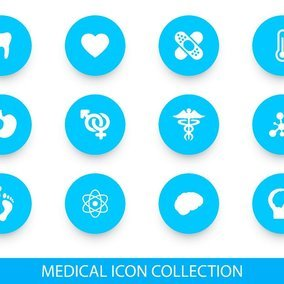 Teal Medical Icon Collection