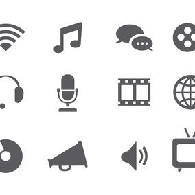 Classic Multimedia Icon Collection