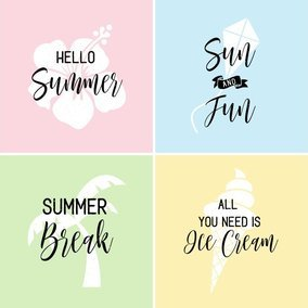 Summer Hand Written Typography Vector Posters