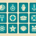 Vintage Style Nautical Icon Collection