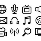Line Style Multimedia Icon Collection