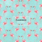Small 1x watercolor flamingo seamless pattern