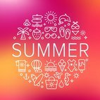 Summer Line Vector Icons