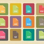Vintage File Type Icon Collection