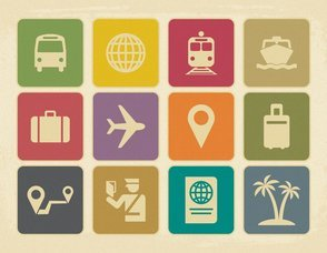 Vintage Style Travel Icon Collection