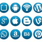 Button Style Social Media Icon Collection