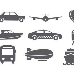Transportaion Icon Collection