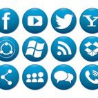 Small 1x dd blue button social media icon collection 33090 preview