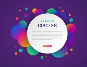 Abstract Colorful Circles Banner