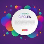 Small 1x abstract colorful circles banner