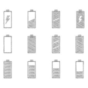Sketchy Battery Icon Collection