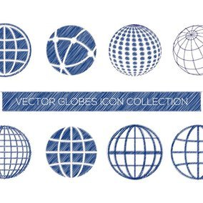 Sketchy Globe Icon Collection - 10911 - Dryicons