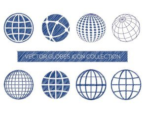 Sketchy Globe Icon Collection