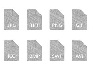 Hand Pencil Drawn File Type Icon Collection