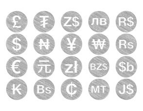 Hand Drawn Styel Currency Icon Collection
