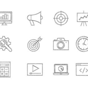 Sketchy Seo Icon Collection