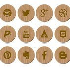 Small 1x dd wood style social icon collection 33090 preview