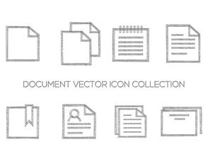 Sketchy Document Icon Collection