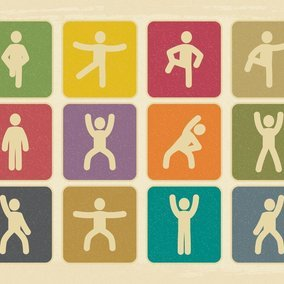 Vintage Style Exercise Icon Collection