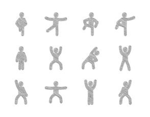 Sketchy Exercise Icon Collection