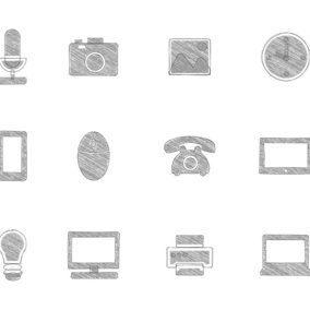 Sketchy Technology Icon Collection