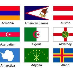 Assorted Flag Icon Collection