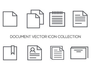 Lined Style Document Icons Collection