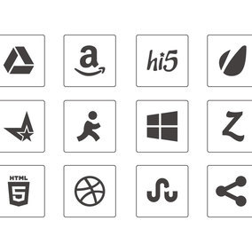 Thin Social Media Icon Collection