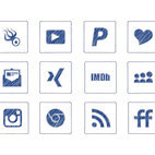 Scribble Style Social Media Icon Collection