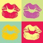 Small 1x pop art kiss