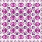 Small 1x digital flowers pattern