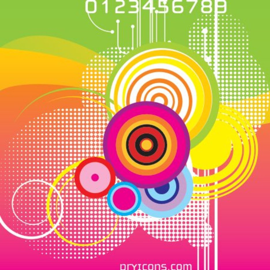 Retro Colorful Background - 8258 - Dryicons