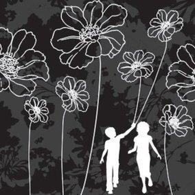 Walk with flowers