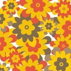 Small 1x retro flower background