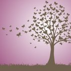 Small 1x butterfly tree