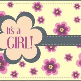 Its a girl greeting