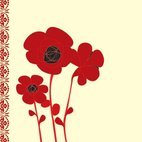 Small 1x poppy card