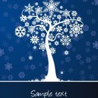Small 1x winter tree card