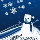 Small 1x snowman greeting card