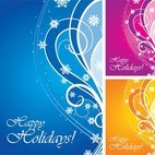 Small 1x happy holidays card