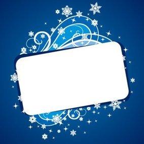 Christmas Banner Blue