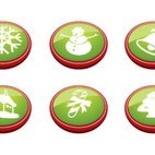 Small 1x christmas buttons
