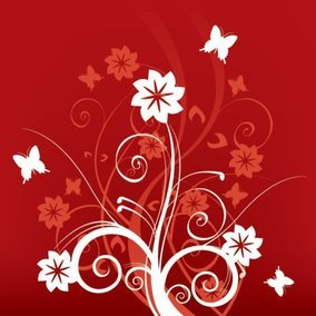Swirls on Red