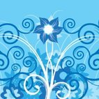 Small 1x blue flower