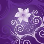 Small 1x flower on violet