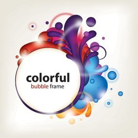 Colorful Bubble Frame