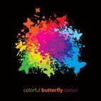 Small 1x colorful butterfly dance